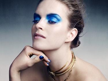 Blue Dior Makeup