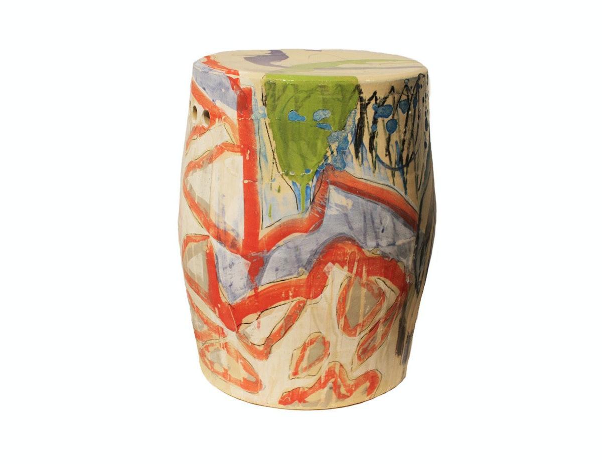 Reinaldo Sanguino ceramic stool