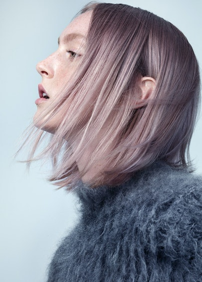 Pale Pink Hair