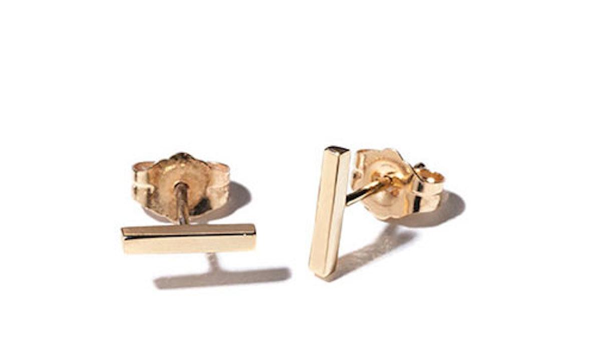 Carrie Hoffman Gold Stud Earrings
