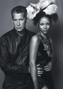 Stefano Tonchi and Rihanna