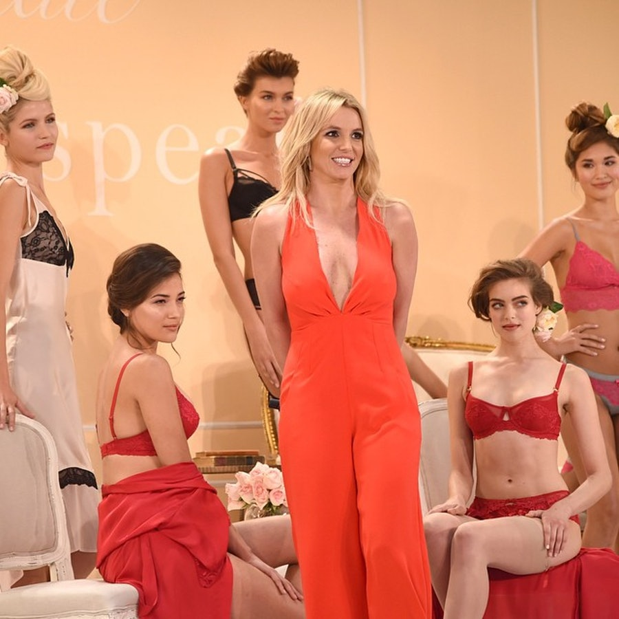 Britney Spears presents her lingerie collection at New York Fashion Week