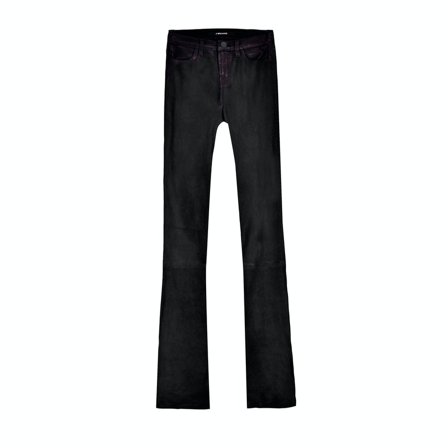 J Brand Remy lambskin high-rise pants