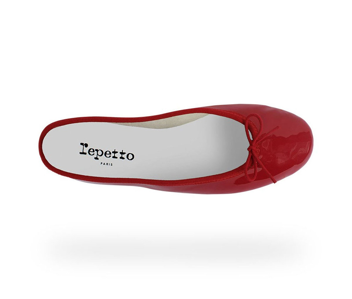 Repetto ballet flat in red patent
