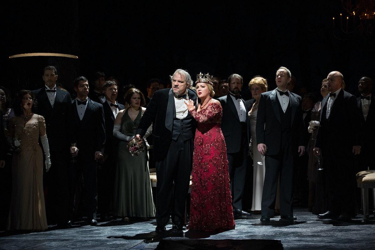 Anna Netrebko as Lady Macbeth and Željko Lučić in the title role of Verdi's Macbeth