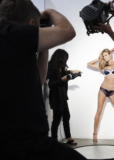 Heidi Klum models pieces from her lingerie line