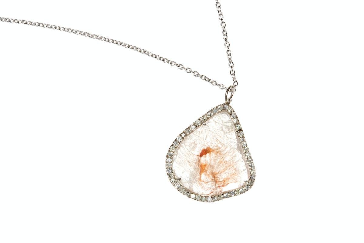Welstead's flat sliced-diamond pendant