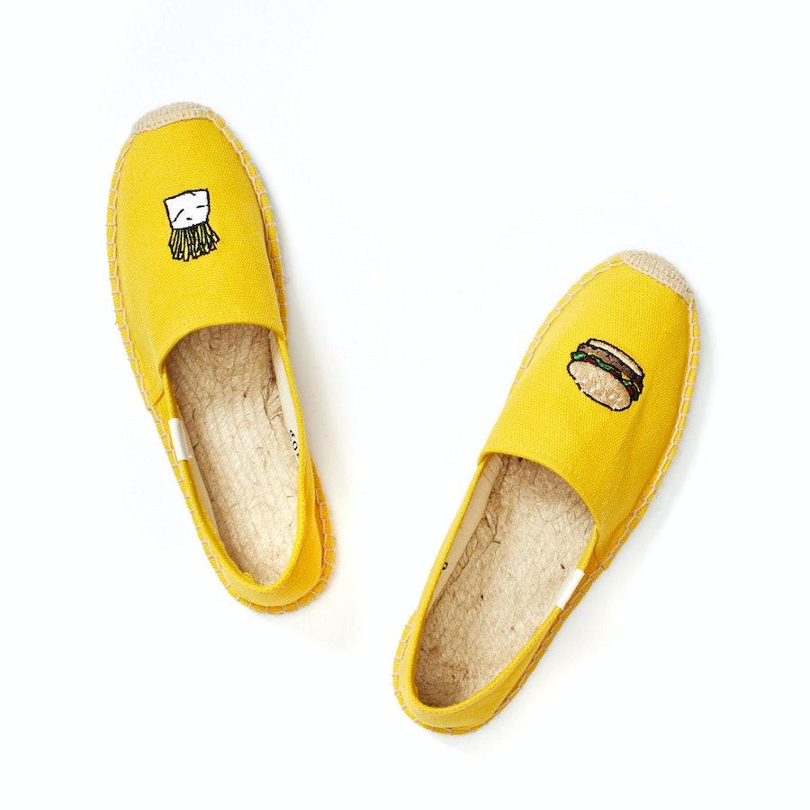 Soludos x Jason Polan Hamburgers and Fries shoes