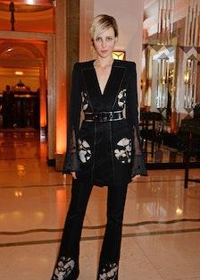 Model Edie Campbell in Alexander McQueen