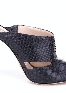 Alexandre Birman python slide sandal