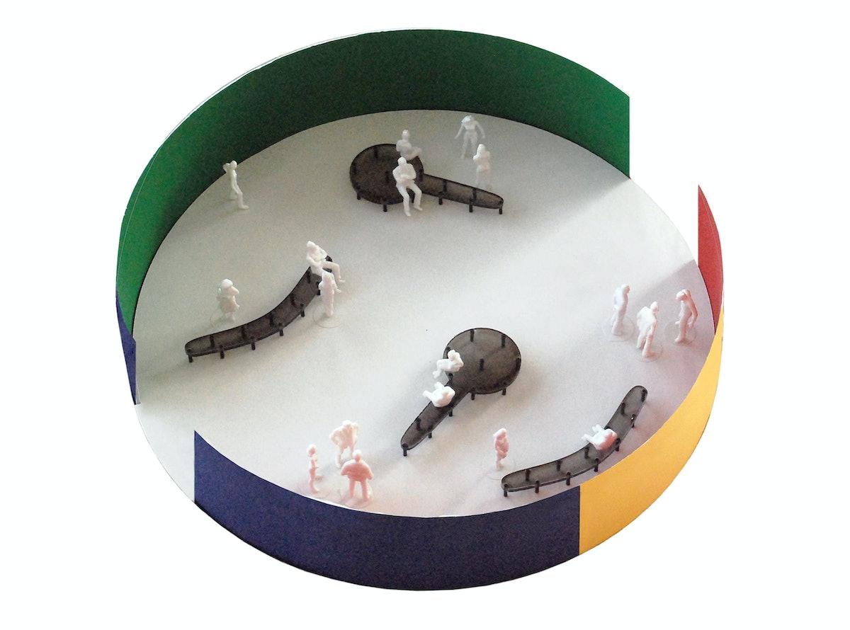 Jonathan Muecke's model for Design Miami