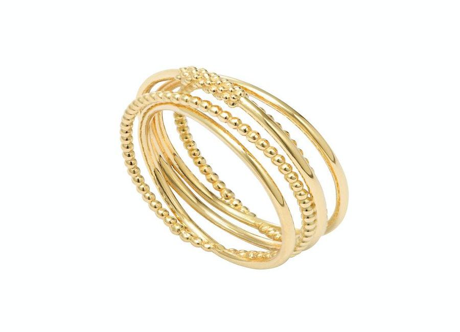 Lagos Covet gold band ring