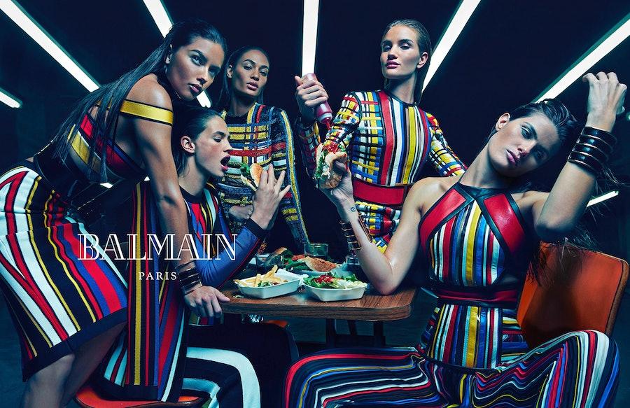 Balmain Spring 2015 ad campaign