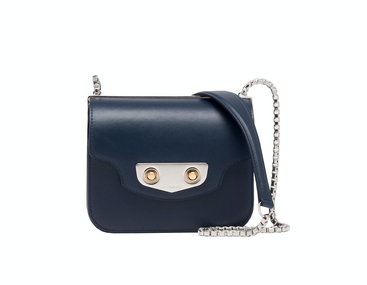 Balenciaga neo classic mini chain box bag with chain shoulder strap