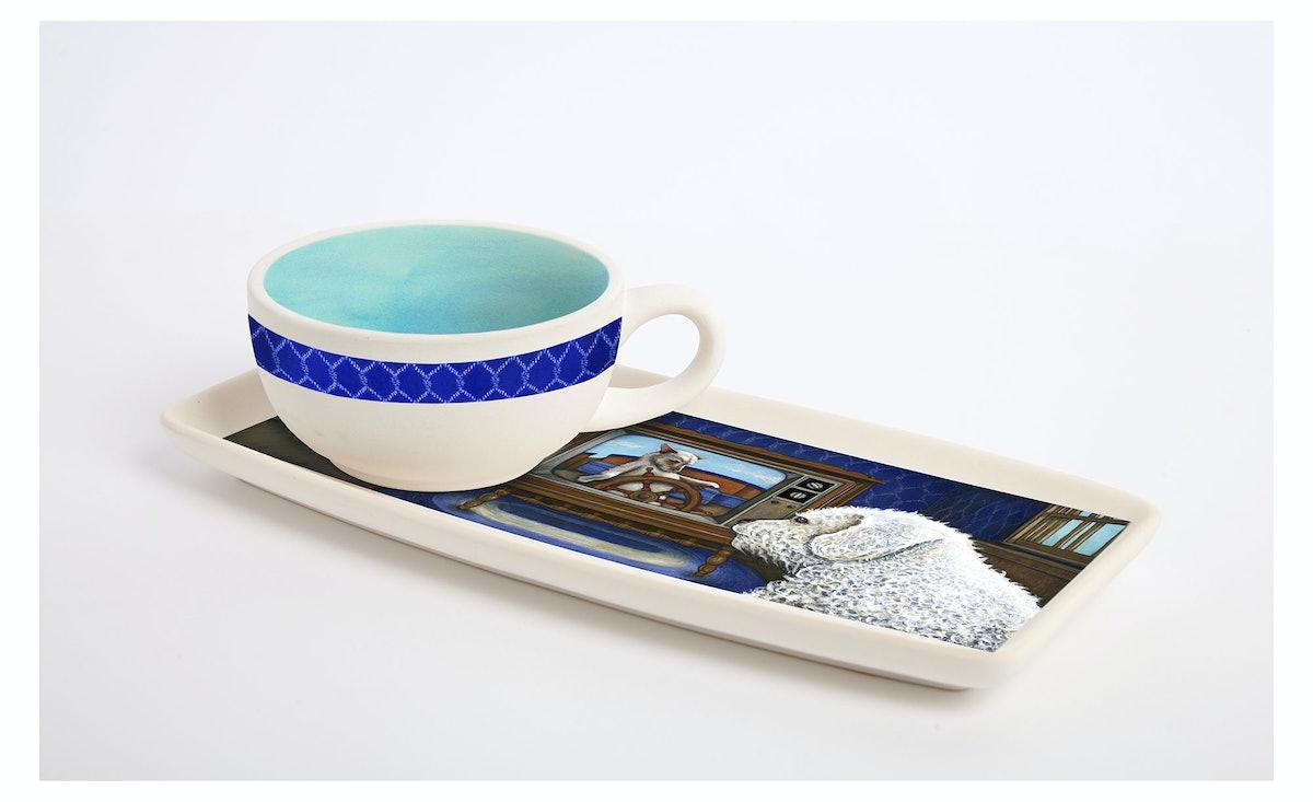 Jenny Slate porcelain snack set