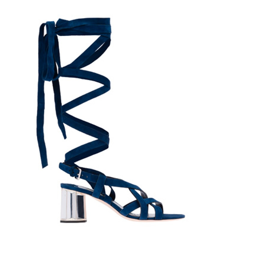 miu miu lace up sandals