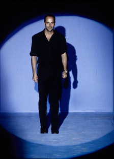 Tom Ford takes his bow at Gucci's Spring/Summer 1996 show