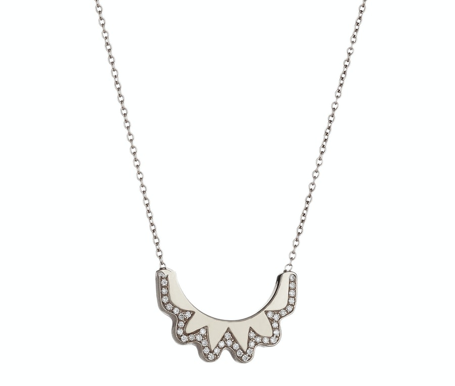 Ilana Ariel crescent pendant necklace