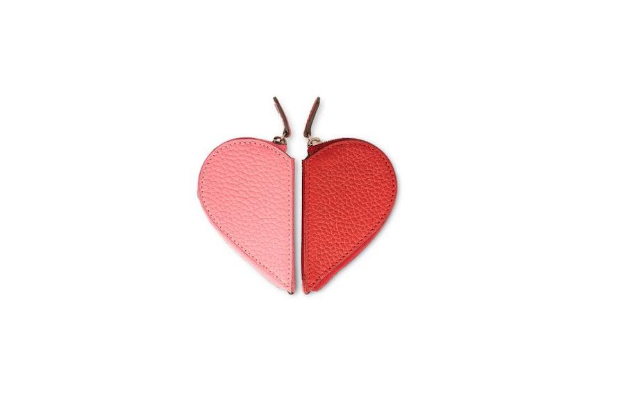 Moynat half heart coin purse