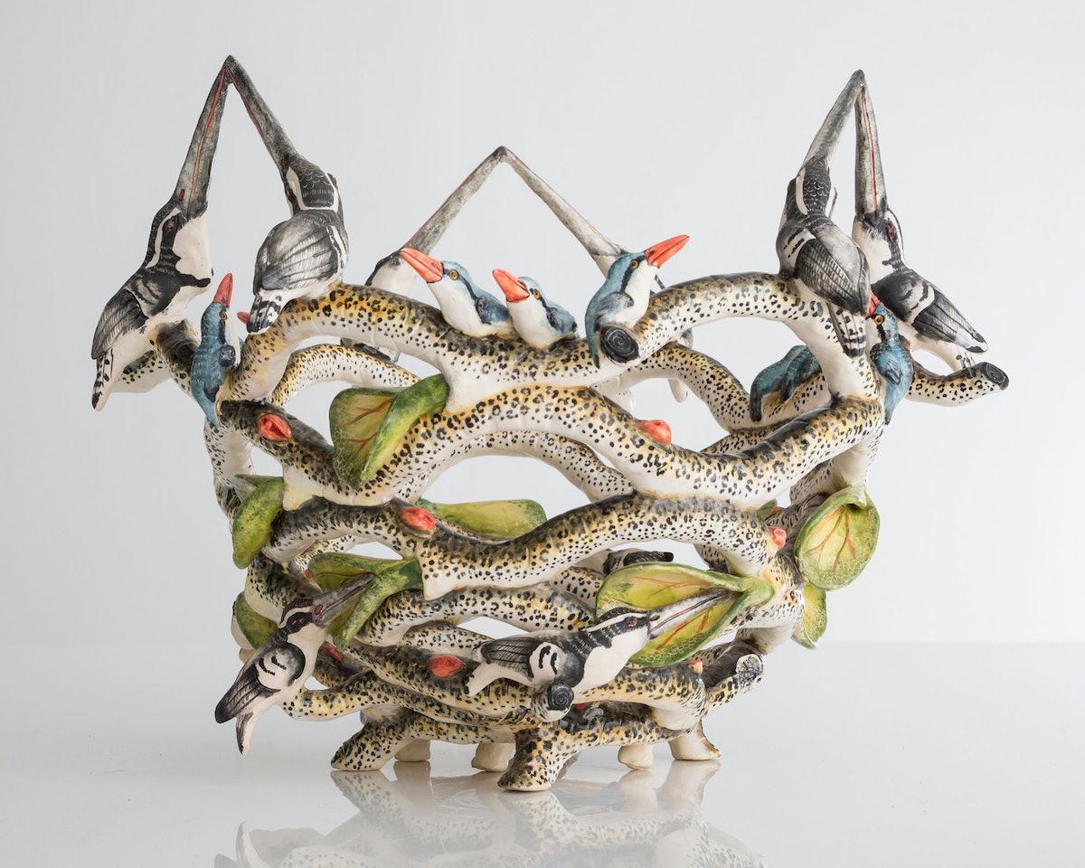 Ardmore's Kissing Kingfisher Vase.