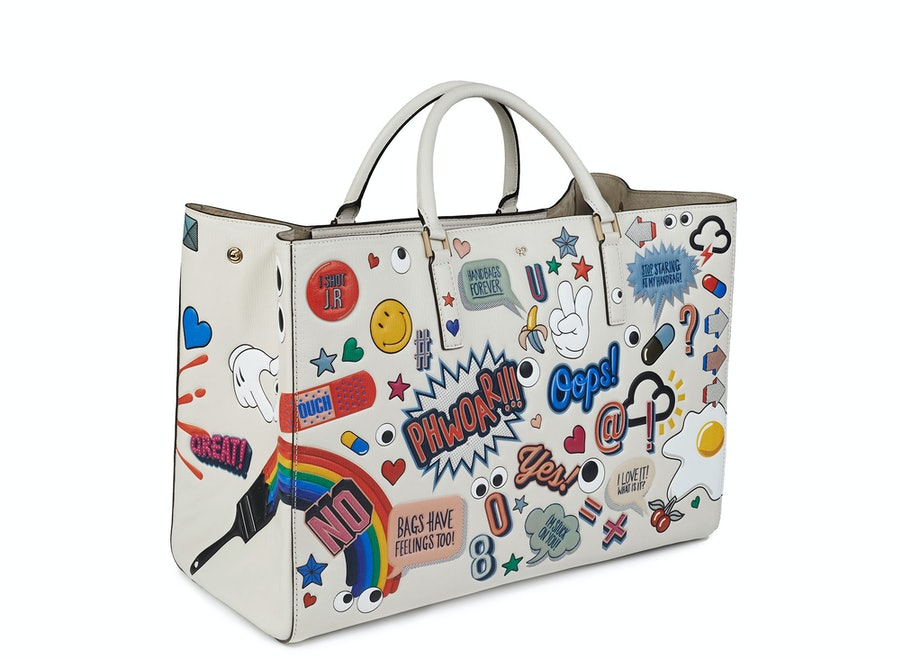 Anya Hindmarch Maxi All-Over Stickers Featherweight Ebury bag