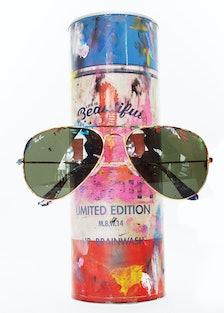 Sunglass Hut Mr. Brainwash Ray Ban sunglasses