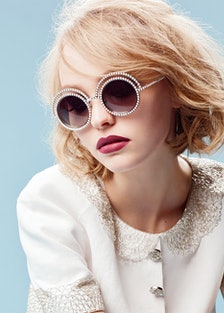 Lily-Rose Depp photographed by Karl Lagerfeld