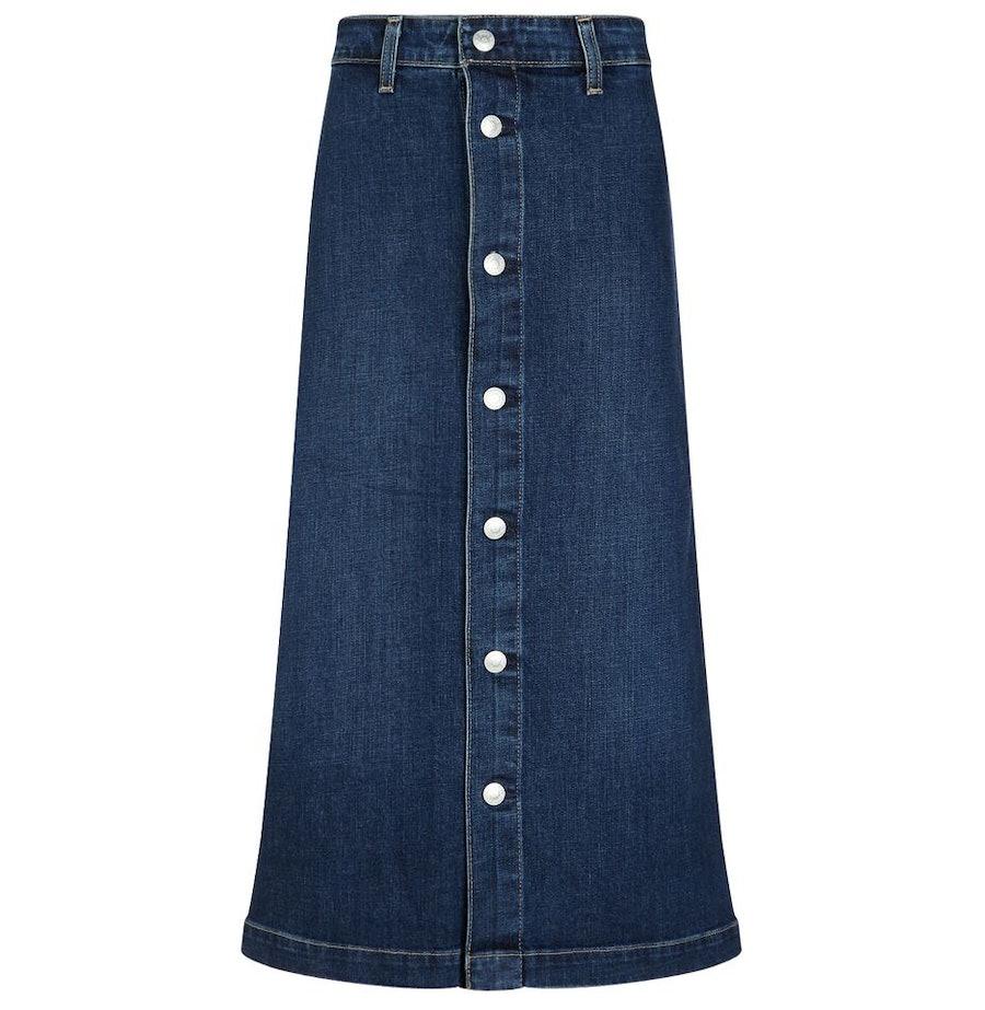 Alexa Chung for AG Beat the Cool Denim Midi Skirt