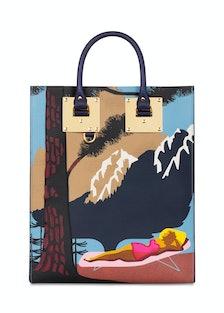 Sophie Hulme printed leather tote,