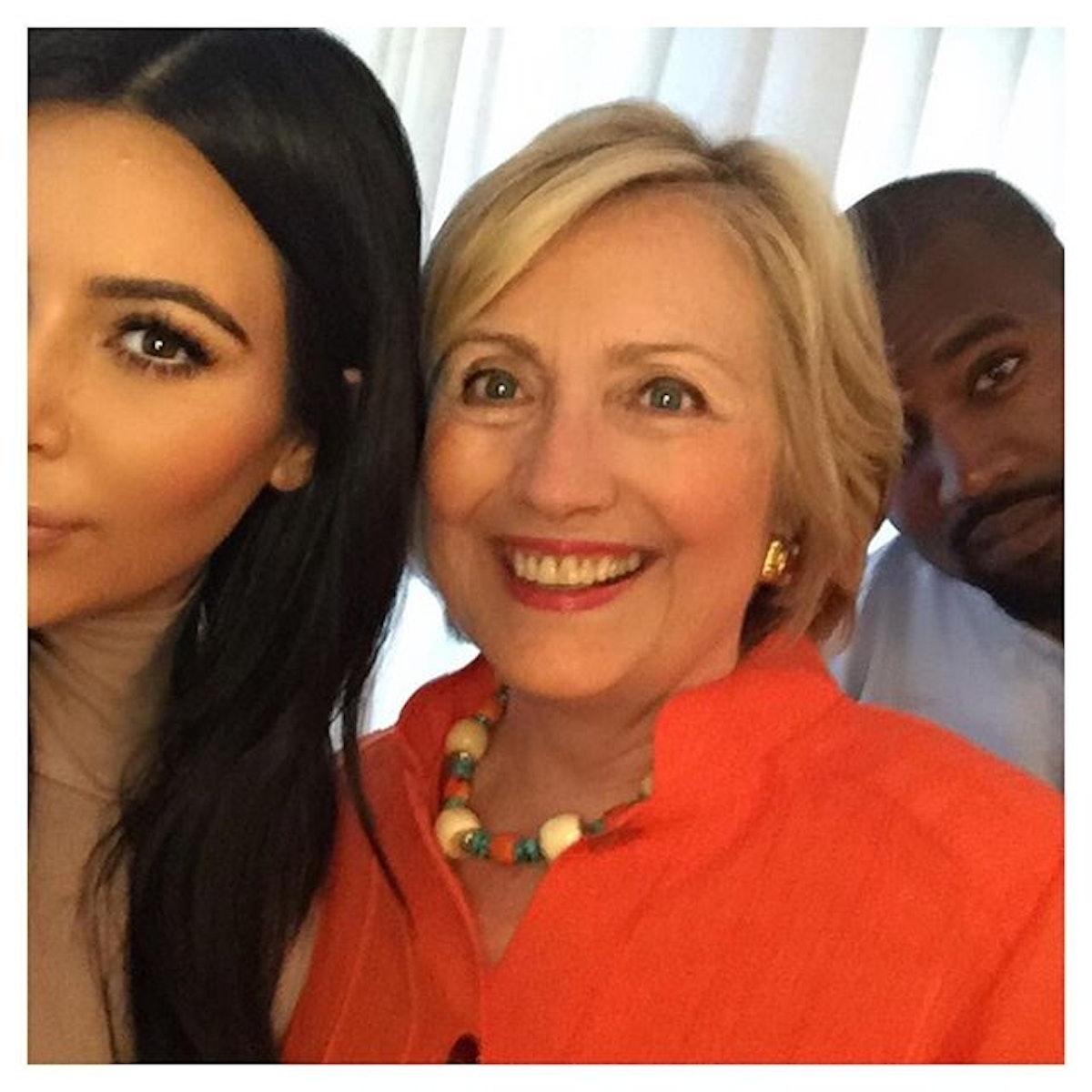 Kim Kardashian Hillary Clinton