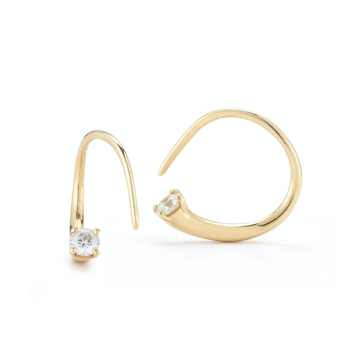 Jade Trau 14k yellow and diamond earrings