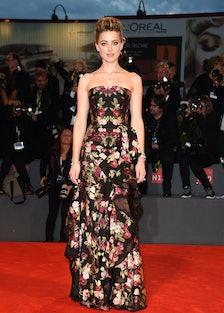 Amber Heard in Alexander McQueen