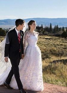 Allison Williams wedding dress