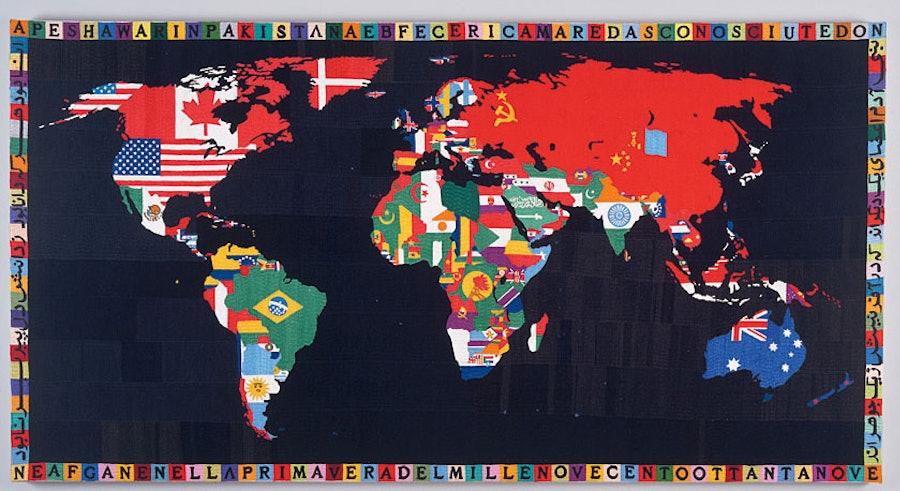 Alighiero Boetti's Map of the World
