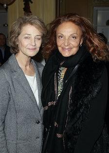 Charlotte Rampling and Diane von Furstenberg