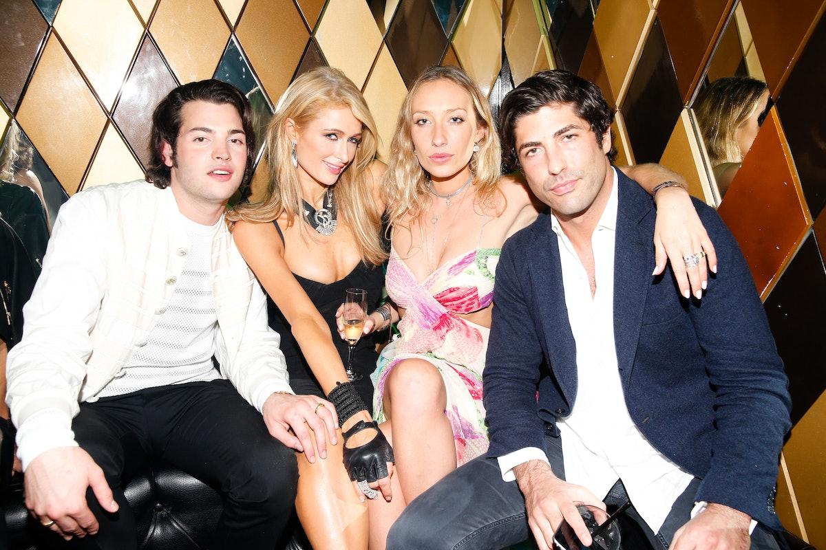 Peter Brant Jr., Paris Hilton, Gaia Matisse, and Brandon Davis