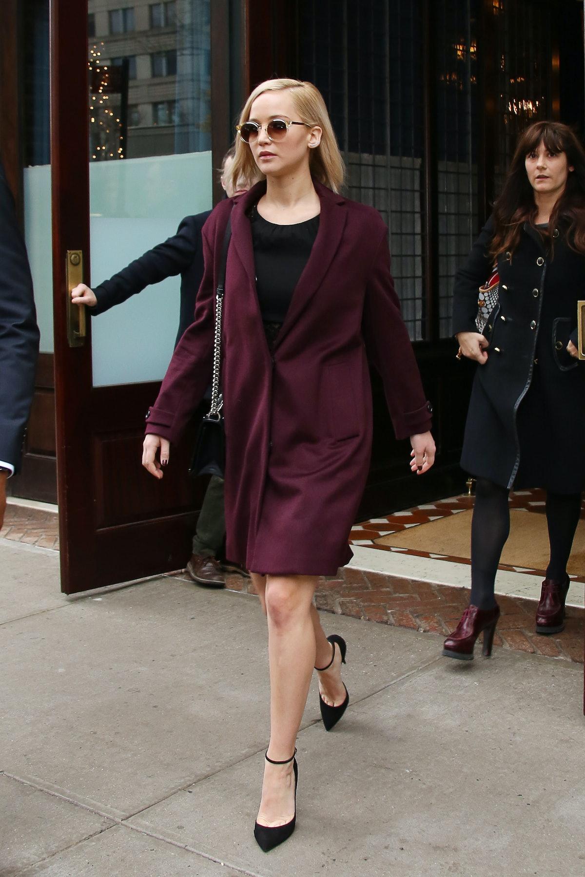 Jennifer Lawrence in Burberry