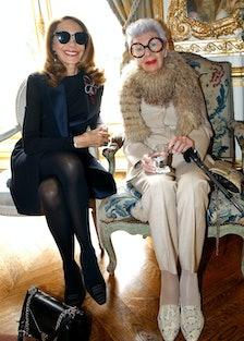 Marisa Berenson and Iris Apfel