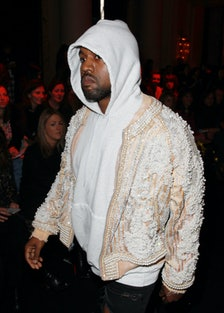 Kanye West at Balmain