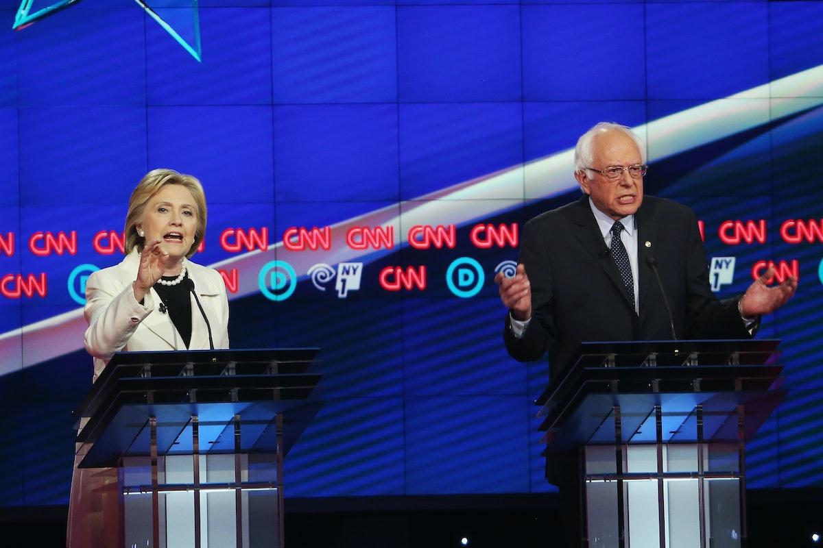Hillary Clinton And Bernie Sanders Spar At Democratic Debate In Brooklyn