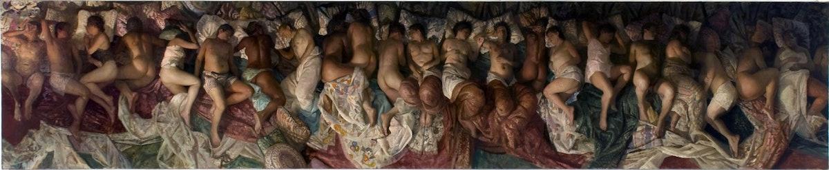 Desiderio, Sleep, 2008, oil on canvas, 52 x 252 in, NON 47292