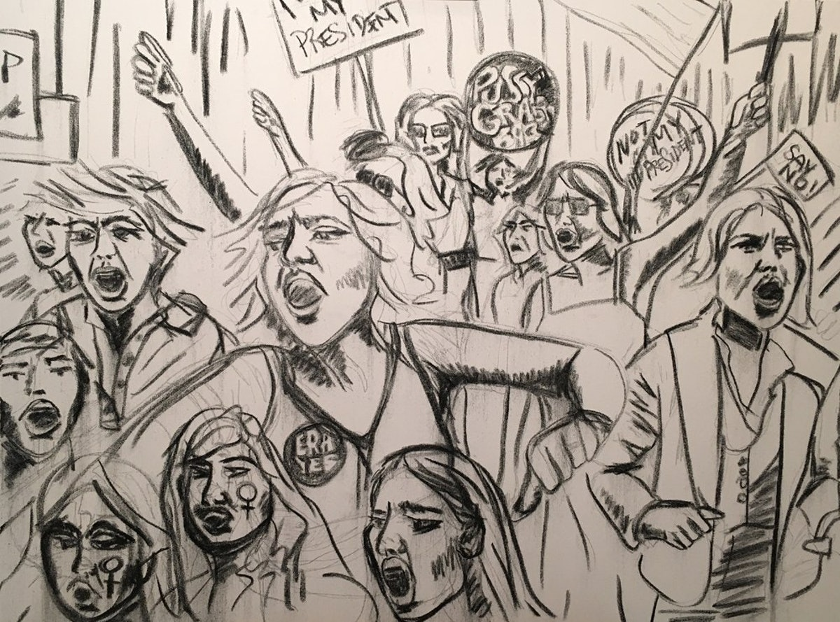 **INDIRA CESARINE - PROTEST 2016 (Work In Progress) - THE UNTITLED SPACE - UPRISE _ ANGRY WOMEN EXHIBIT.jpg