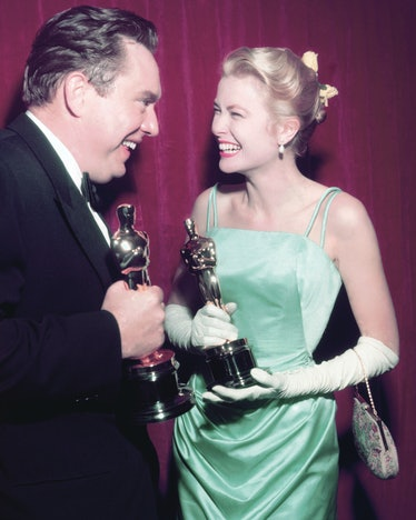 Grace Kelly accepting an Oscar