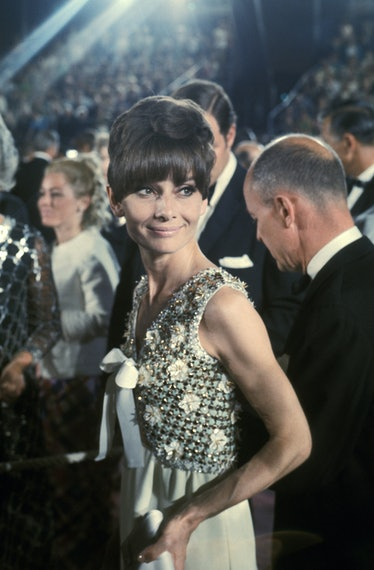 Audrey Hepburn in a pixie cut