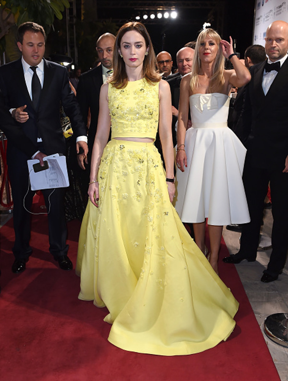 Emily Blunt in yellow