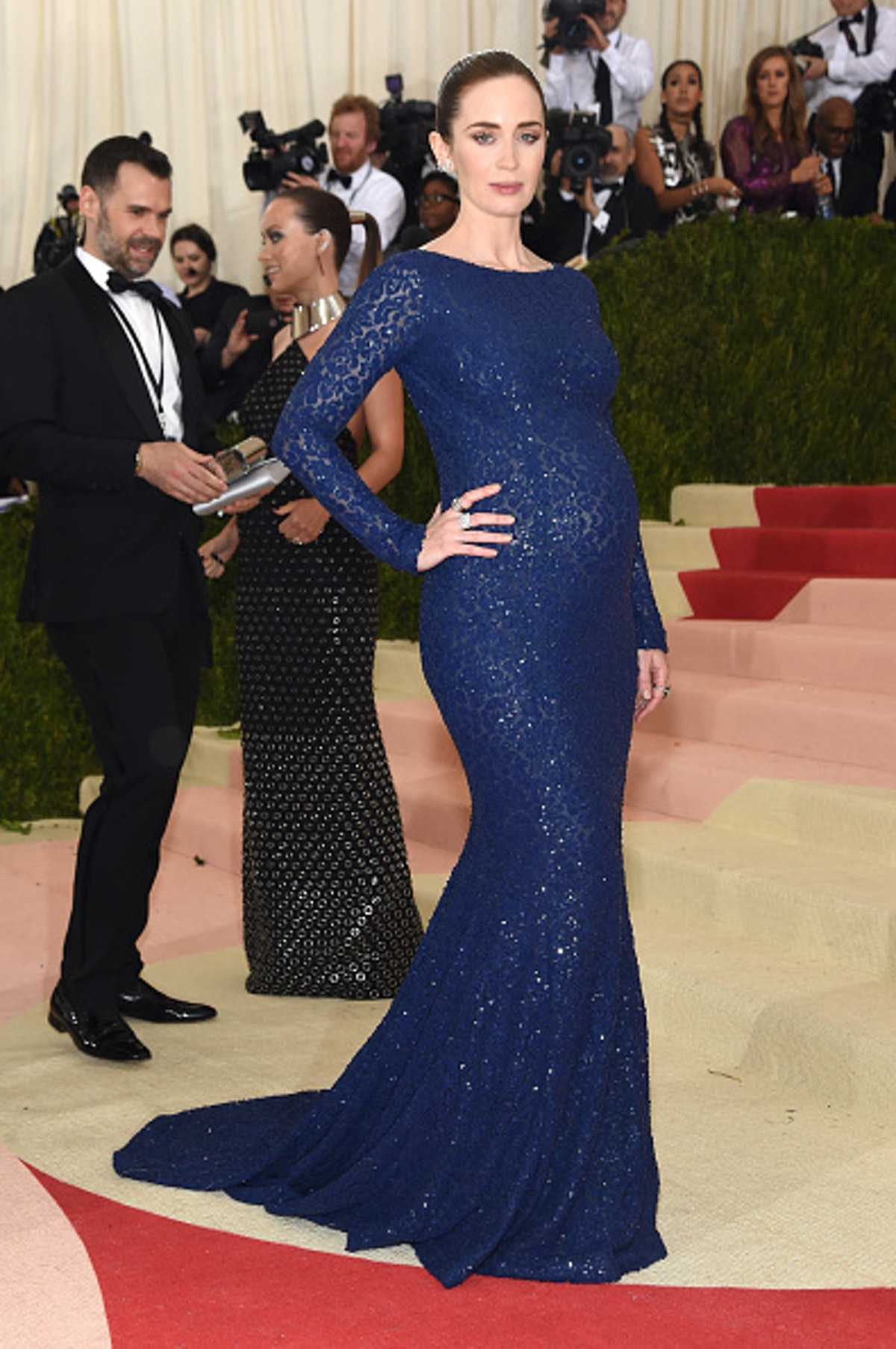 Emily Blunt pregnant at the Met Gala.
