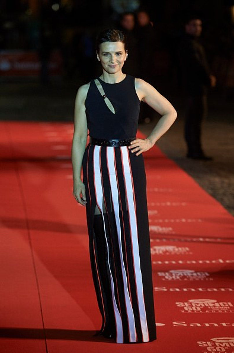Juliette Binoche Receives The Honorary Spike at Seminici Valladolid 2015