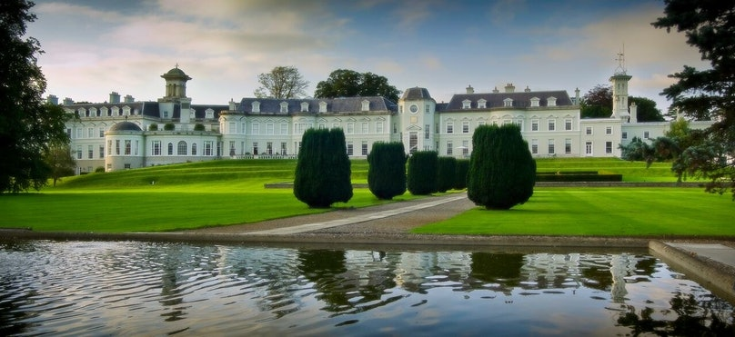 The front grounds of the K Club, in Kildare County