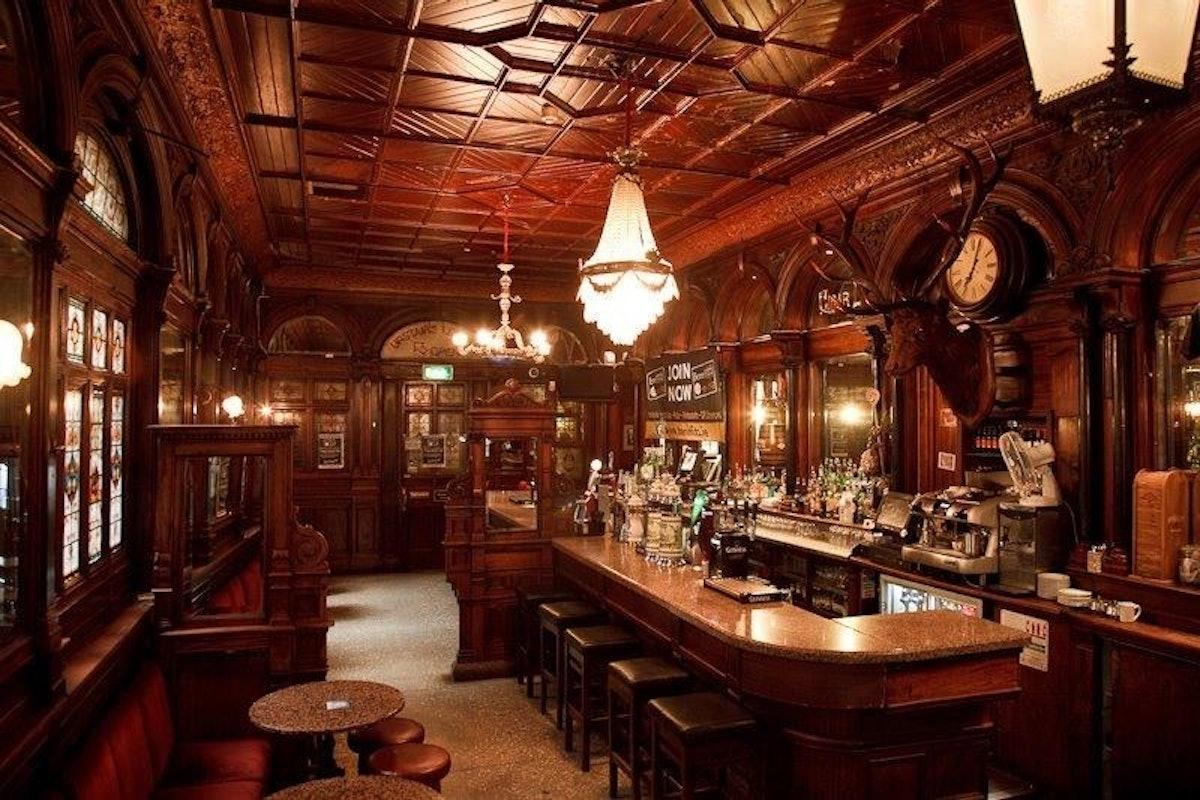 The Stag's Head pub, tucked away in Dublin's creative quarter
