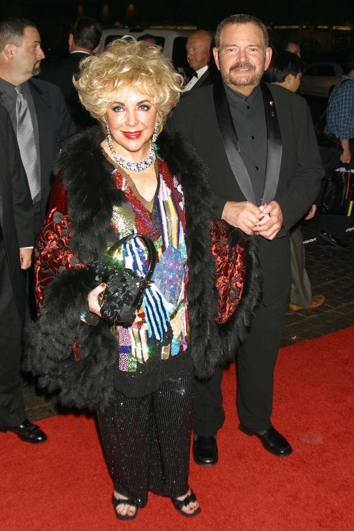 Elizabeth Taylor arriving at the Beverly Hilton Hotel for the 15th Annual Carousel of Hope Ball in B...